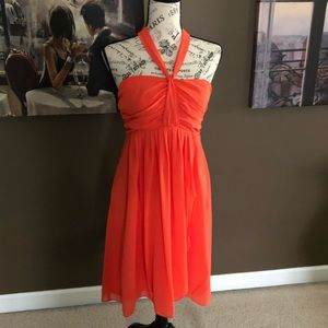 NWT Orange Halter Dress